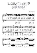 Téléchargez l'arrangement de la partition de Traditionnel-Mariage-pitim-pitim en PDF à deux voix