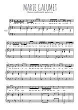 Téléchargez la partition de Marie Galumet en PDF pour Chant et piano