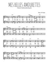 Téléchargez l'arrangement de la partition de mes-belles-amourettes en PDF à deux voix
