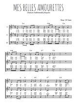Téléchargez l'arrangement de la partition de mes-belles-amourettes en PDF à trois voix