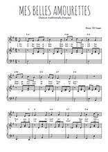 Téléchargez la partition de Mes belles amourettes en PDF pour Chant et piano