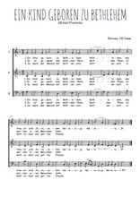 Téléchargez l'arrangement de la partition de Michael-Praetorius-Ein-kind-geboren-zu-bethlehem en PDF à trois voix