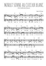 Téléchargez l'arrangement de la partition de Traditionnel-Minuit-sonne-au-clocher-blanc en PDF à deux voix