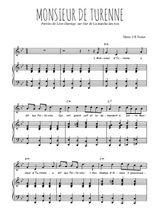 Téléchargez la partition de Monsieur de Turenne en PDF pour Chant et piano