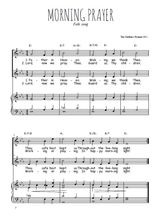 Téléchargez la partition de Morning prayer en PDF pour 2 voix égales et piano