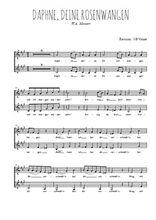 Téléchargez l'arrangement de la partition de mozart-daphne-deine-rosenwangen en PDF à deux voix