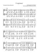 Téléchargez l'arrangement de la partition de mozart-l-esperance en PDF à deux voix