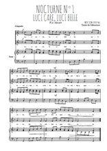 Téléchargez la partition de Nocturne N°1, Luci care, luci belle en PDF pour 2 voix égales et piano