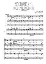 Téléchargez la partition de Nocturne N°1, Luci care, luci belle en PDF pour 3 voix SAB et piano