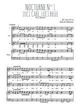 Téléchargez la partition de Nocturne N°1, Luci care, luci belle en PDF pour 3 voix SSA et piano