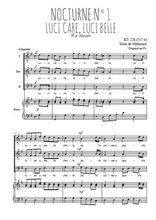 Téléchargez la partition de Nocturne N°1, Luci care, luci belle en PDF pour 3 voix TTB et piano