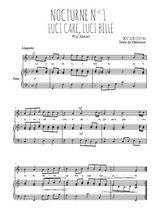 Téléchargez la partition de Nocturne N°1, Luci care, luci belle en PDF pour Chant et piano