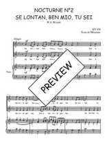 Téléchargez la partition de Nocturne N°2, Se lontan, ben mio, tu sei en PDF pour 2 voix égales et piano