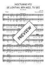 Téléchargez l'arrangement de la partition de W.A.-Mozart-Nocturne-N2-Se-lontan-ben-mio-tu-sei en PDF à deux voix