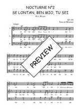 Téléchargez l'arrangement de la partition de W.A.-Mozart-Nocturne-N2-Se-lontan-ben-mio-tu-sei en PDF à trois voix