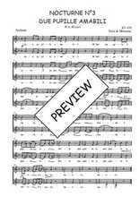 Téléchargez l'arrangement de la partition de W.A.-Mozart-Nocturne-N3-Due-pupille-amabili en PDF à deux voix