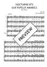 Téléchargez la partition de Nocturne N°3, Due pupille amabili en PDF pour 3 voix SAB et piano