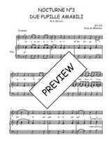 Téléchargez la partition de Nocturne N°3, Due pupille amabili en PDF pour Chant et piano