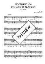 Téléchargez l'arrangement de la partition de W.A.-Mozart-Nocturne-N4-Piu-non-si-trovano en PDF à deux voix