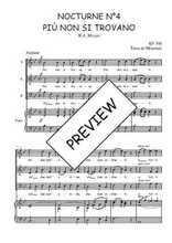 Téléchargez la partition de Nocturne N°4, Più non si trovano en PDF pour 3 voix SAB et piano