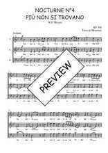 Téléchargez l'arrangement de la partition de W.A.-Mozart-Nocturne-N4-Piu-non-si-trovano en PDF à trois voix