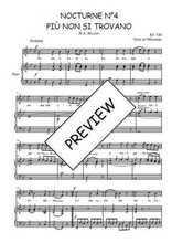 Téléchargez la partition de Nocturne N°4, Più non si trovano en PDF pour Chant et piano