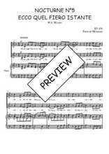 Téléchargez la partition de Nocturne N°5, Ecco quel fiero istante en PDF pour 2 voix égales et piano
