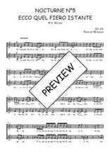 Téléchargez l'arrangement de la partition de W.A.-Mozart-Nocturne-N5-Ecco-quel-fiero-istante en PDF à deux voix