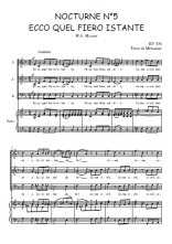 Téléchargez la partition de Nocturne N°5, Ecco quel fiero istante en PDF pour 3 voix SAB et piano