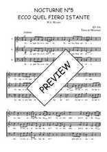 Téléchargez l'arrangement de la partition de W.A.-Mozart-Nocturne-N5-Ecco-quel-fiero-istante en PDF à trois voix