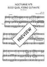 Téléchargez la partition de Nocturne N°5, Ecco quel fiero istante en PDF pour Chant et piano