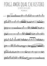 Téléchargez la partition pour saxophone en Mib de la musique mozart-les-noces-de-figaro-porgi-amor-quel-che-ristoro en PDF