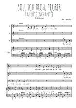 Téléchargez la partition de Soll ich dich, Teurer en PDF pour 3 voix SAB et piano