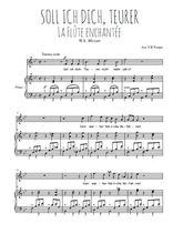 Téléchargez la partition de Soll ich dich, Teurer en PDF pour Chant et piano