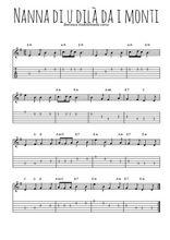 Téléchargez la tablature de la musique berceuse-corse-nanna-di-u-dila-da-i-monti en PDF