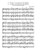 Téléchargez la partition de C'était la veille de Noël en PDF pour 2 voix égales et piano