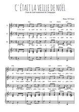 Téléchargez la partition de C'était la veille de Noël en PDF pour 3 voix SAB et piano