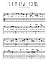 Téléchargez la tablature de la musique Traditionnel-C-etait-la-veille-de-Noel en PDF