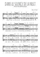 Téléchargez l'arrangement de la partition de noel-dans-le-silence-de-la-nuit en PDF à deux voix