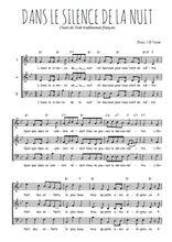 Téléchargez l'arrangement de la partition de noel-dans-le-silence-de-la-nuit en PDF à trois voix