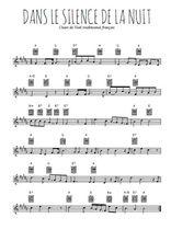 Téléchargez la partition en Sib de la musique noel-dans-le-silence-de-la-nuit en PDF