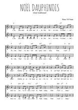 Téléchargez l'arrangement de la partition de Gatien-Almoric-Noel-Dauphinois en PDF à deux voix