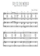 Téléchargez la partition de Joy to the world en PDF pour 2 voix égales et piano