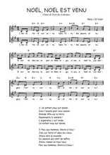 Téléchargez l'arrangement de la partition de Traditionnel-Noel-Noel-est-venu en PDF à deux voix