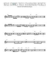 Téléchargez la partition en Sib de la musique noel-nous-sommes-trois-souverains-princes en PDF