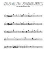 Téléchargez la partition pour saxophone en Mib de la musique noel-nous-sommes-trois-souverains-princes en PDF