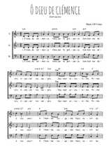 Téléchargez l'arrangement de la partition de Traditionnel-O-Dieu-de-clemence en PDF à trois voix