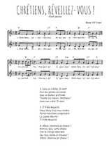 Téléchargez l'arrangement de la partition de Traditionnel-Chretiens-reveillez-vous en PDF à deux voix