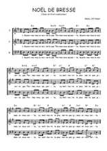 Téléchargez l'arrangement de la partition de Traditionnel-Noel-de-Bresse en PDF à trois voix