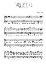 Téléchargez l'arrangement de la partition de Traditionnel-Noel-est-venu en PDF à deux voix